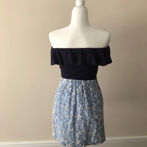 Lilly Pulitzer Dresses - Lilly Esmeralda Strapless Blue Dress